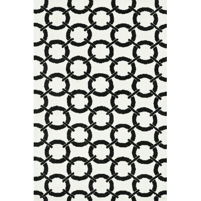 Charlotte Ivory/Onyx Area Rug Rug Size: Rectangle 3'6