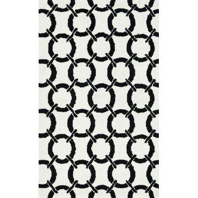 Charlotte Ivory/Onyx Area Rug Rug Size: 23 x 39