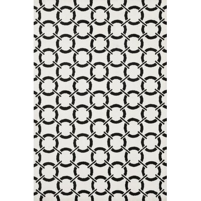 Charlotte Ivory/Onyx Area Rug Rug Size: Rectangle 5' x 7'6