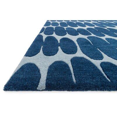 "Nova Light Blue/Blue Rug Rug Size: 3'6"" x 5'6"