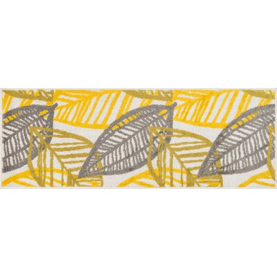 Terrace Yellow Area Rug Rug Size: 18 x 5