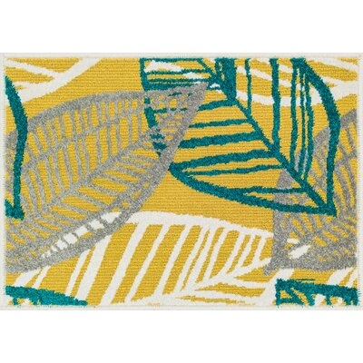 Terrace Yellow Area Rug Rug Size: 25 x 39