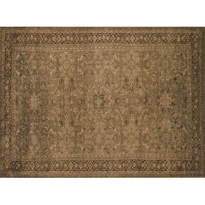 Stanley Light Gold/Brown Area Rug Rug Size: Runner 26 x 79