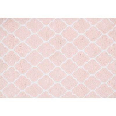 Lola Shag Blush Pink/White Area Rug Rug Size: Round 3