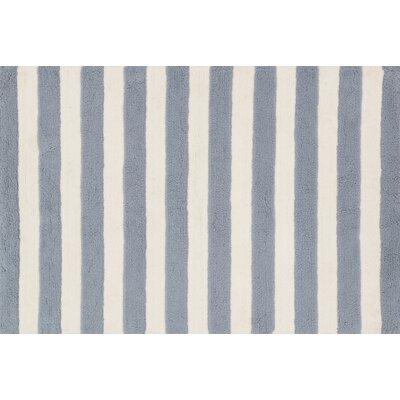 Lola Shag Hand-Woven Slate/Ivory Area Rug Rug Size: 73 x 93