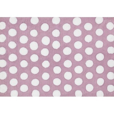 Lola Shag Lilac/White Area Rug Rug Size: Rectangle 73 x 93