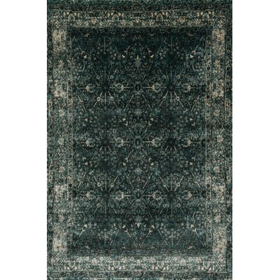 Elton Peacock/Slate Area Rug Rug Size: Rectangle 39 x 56