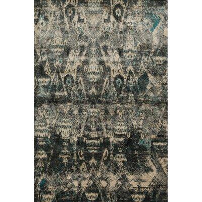 Elton Black/Beige Area Rug Rug Size: 39 x 56