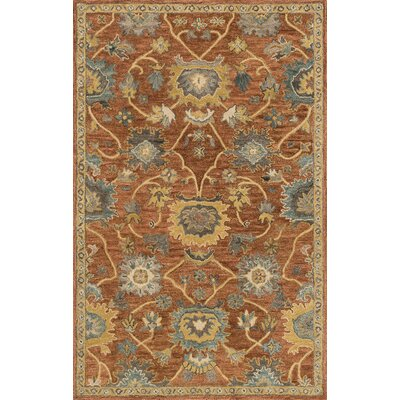 Underwood Rust/Gold Area Rug Rug Size: Rectangle 36 x 56
