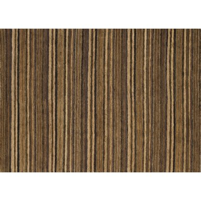 Turley Hand-Knotted Brass/Topaz Area Rug Rug Size: Rectangle 86 x 116