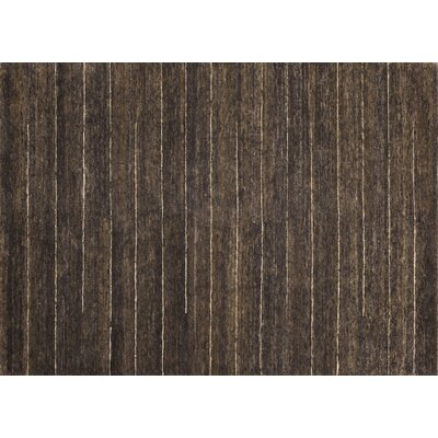 Turley Hand-Knotted Brown Area Rug Rug Size: Rectangle 56 x 86