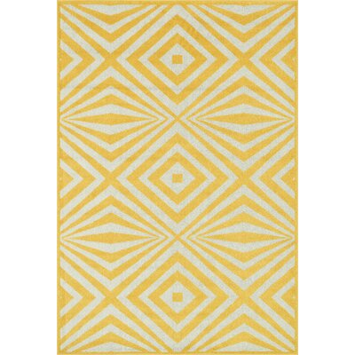 Catalina Yellow Indoor/Outdoor Area Rug Rug Size: 23 x 39