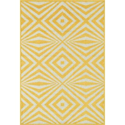 Catalina Yellow Indoor/Outdoor Area Rug Rug Size: 311 x 510