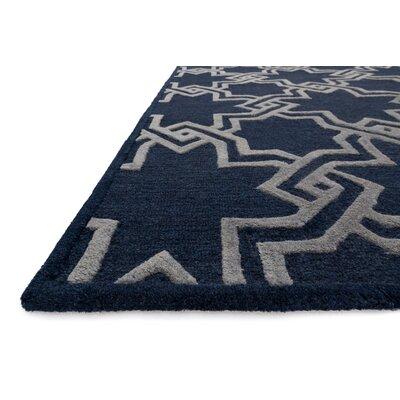 Celine Black/Gray Area Rug Rug Size: Square 76