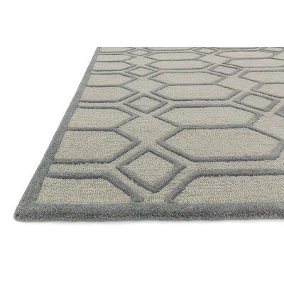 Celine Silver/Gray Area Rug Rug Size: Square 76