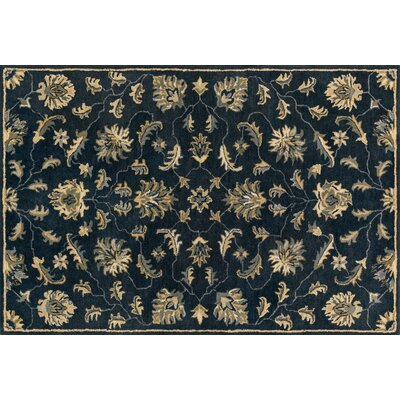 Fairfield Hand-Tufted Midnight Area Rug Rug Size: 7'6