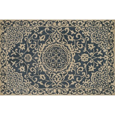Fairfield Hand-Tufted Blue/Ivory Area Rug Rug Size: 9 x 12