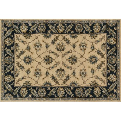 Fairfield Hand-Tufted Ivory/Navy Area Rug Rug Size: 9 x 12