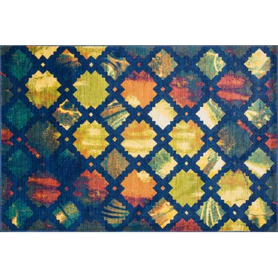 Thoi Blue/Yellow Area Rug Rug Size: Rectangle 39 x 52