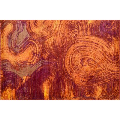 Lyon Red/Orange Area Rug Rug Size: 77 x 105