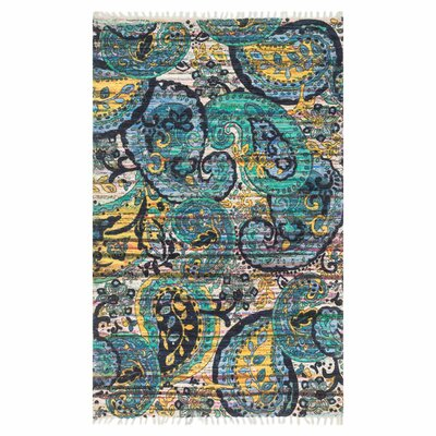 Aria Blue Area Rug Rug Size: Runner 19 x 5