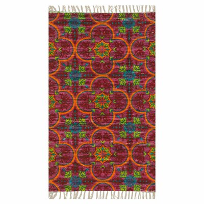 Zabel Berry Area Rug Rug Size: Rectangle 36 x 56