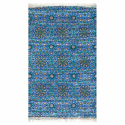 Zabel Blue Area Rug Rug Size: Rectangle 36 x 56