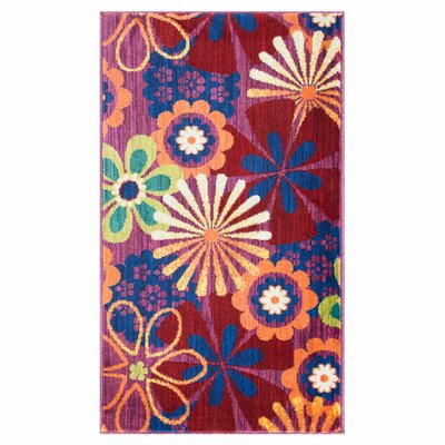 Isabelle Pink/Red Area Rug Rug Size: Rectangle 17 x 26