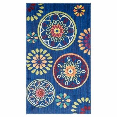 Nanava Blue Area Rug Rug Size: Rectangle 22 x 5