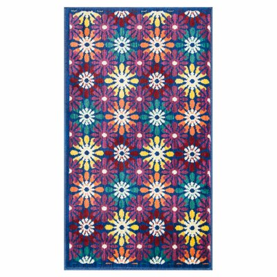 Isabelle Blue/Purple Area Rug Rug Size: 22 x 39