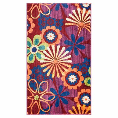 Nanava Pink/Red Area Rug Rug Size: Rectangle 22 x 5