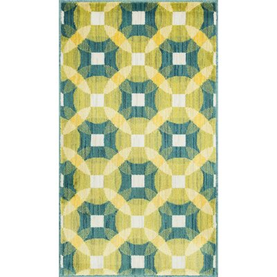 Isabelle Yellow/Green Area Rug Rug Size: Round 3