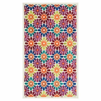 Nanava Blue/Pink Area Rug Rug Size: Rectangle 2'2