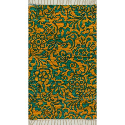 Zabel Lime/Teal Area Rug Rug Size: Rectangle 18 x 3