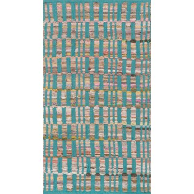 Greenfest Hand-Woven Turquoise Area Rug Rug Size: Rectangle 18 x 3