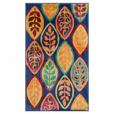 Isabelle Blue/Orange Area Rug Rug Size: 17 x 26