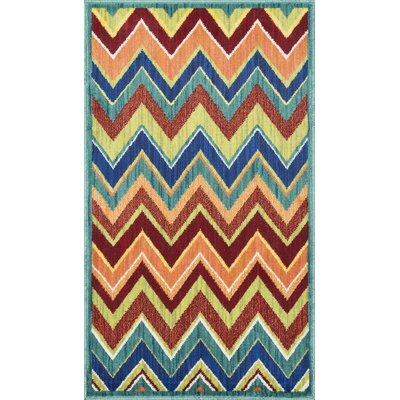 Isabelle Teal/Orange Area Rug Rug Size: Rectangle 17 x 26