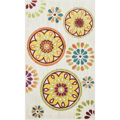 Nanava Ivory Area Rug Rug Size: Rectangle 22 x 39
