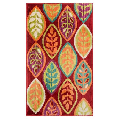 Nanava Red/Orange Area Rug Rug Size: Rectangle 22 x 39