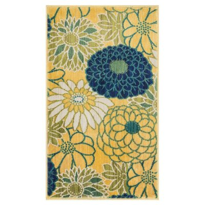 Isabelle Yellow Area Rug Rug Size: Rectangle 22 x 39