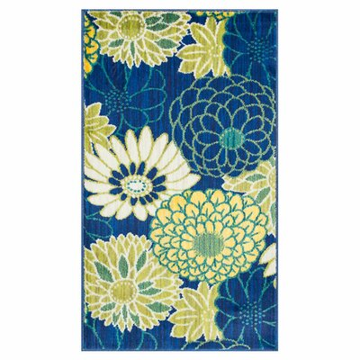 Nanava Blue/Yellow Area Rug Rug Size: Rectangle 17 x 26