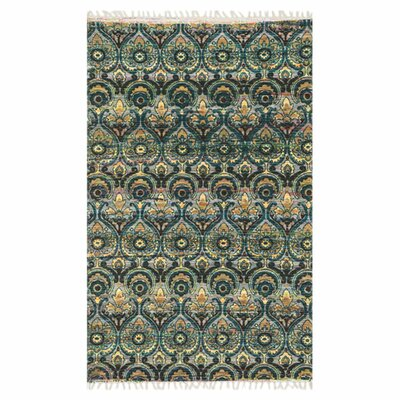 Aria Gray/Blue Area Rug Rug Size: Runner 19 x 5