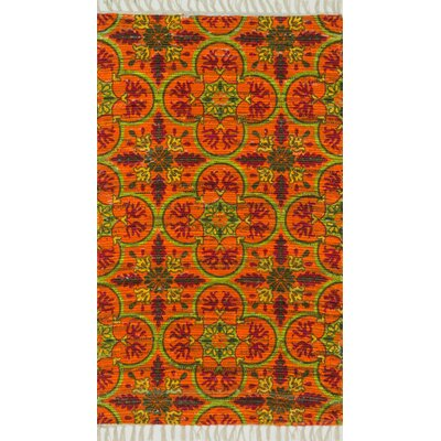 Aria Orange Area Rug Rug Size: Rectangle 36 x 56