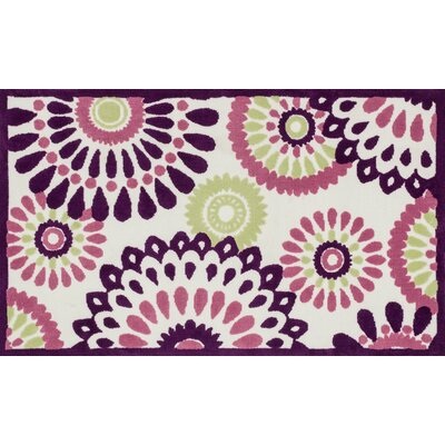 Zoey Purple Area Rug Rug Size: 2 x 3