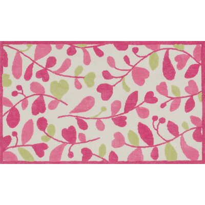 Zoey Pink/Green Area Rug Rug Size: 5 x 7