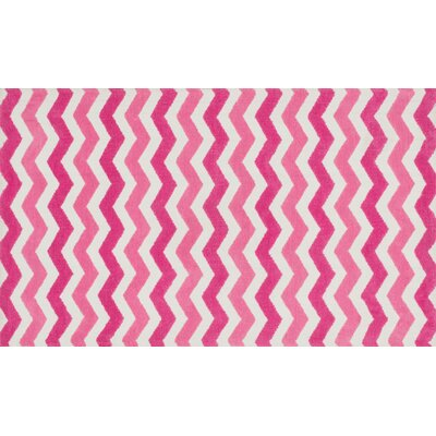 Zoey Pink Area Rug Rug Size: 3 x 5