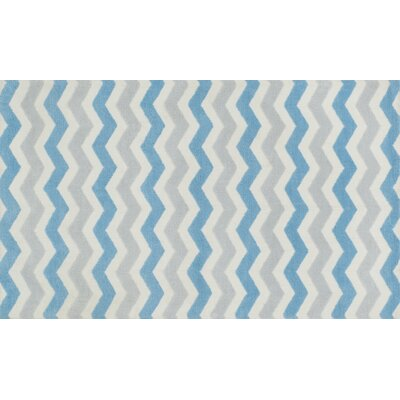 Zoey Blue/Gray Area Rug Rug Size: 2 x 3