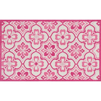 Zoey Pink Area Rug Rug Size: 5 x 7