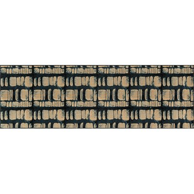 Vista Blue/Beige Area Rug Rug Size: Rectangle 39 X 52