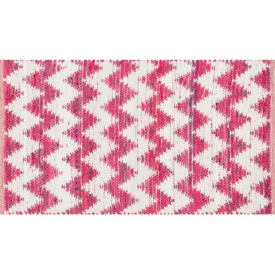 Conde Pink/White Area Rug